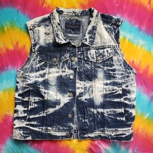 XXL VEST RETRO DISTRESSED DYED STREET TRAP JEAN